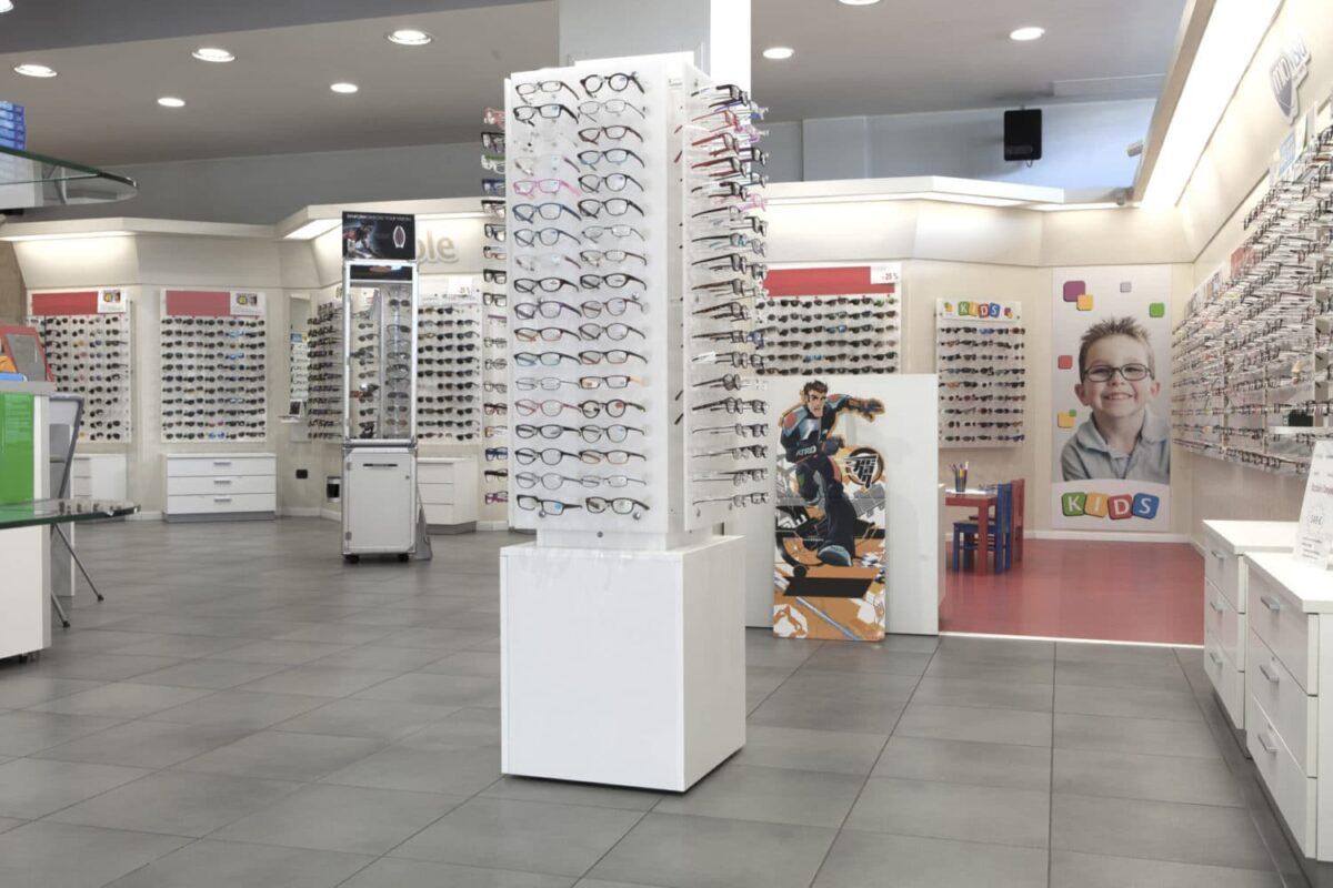 Espositore per occhiali verticale