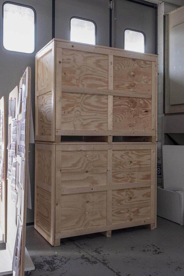 Casse per il trasporto di mobili per ambienti fieristici e showroom